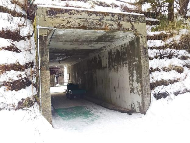 石鎚スキー場 第6ペアリフトからの通路
