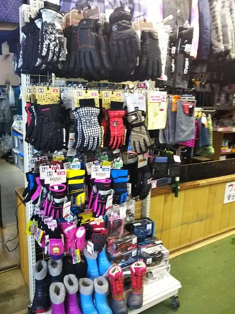 石鎚スキー場 手袋など販売