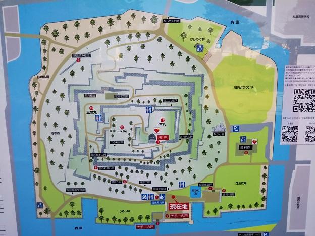 丸亀城 案内図