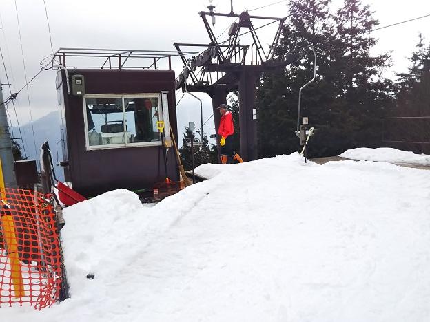 石鎚スキー場第1リフト降り口