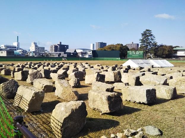 丸亀城 石垣発掘