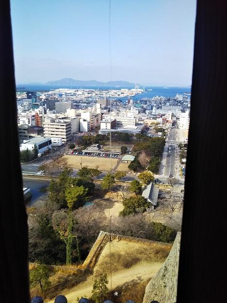 丸亀城天守閣からの眺め