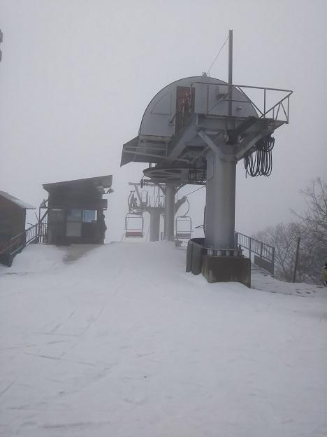 井川スキー場 トリプルリフト降り口