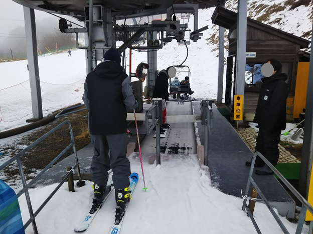 井川スキー場ペアリフト