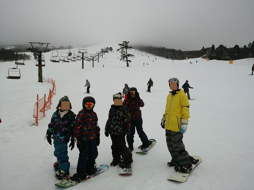 大山でスノーボード