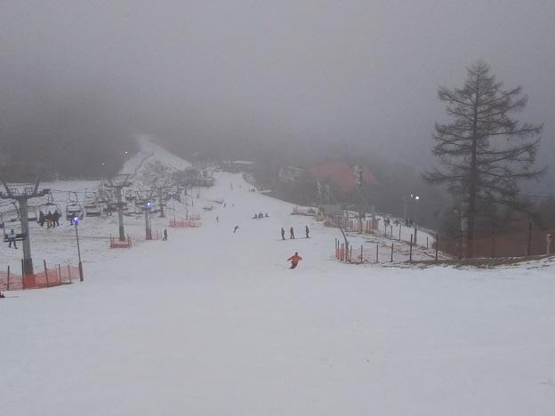 井川スキー場 パノラマコース上から