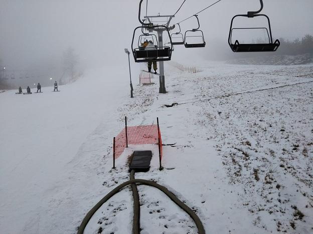 井川スキー場 リフトからの写真