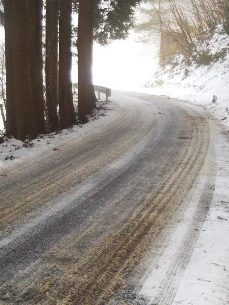 井川スキー場 への道