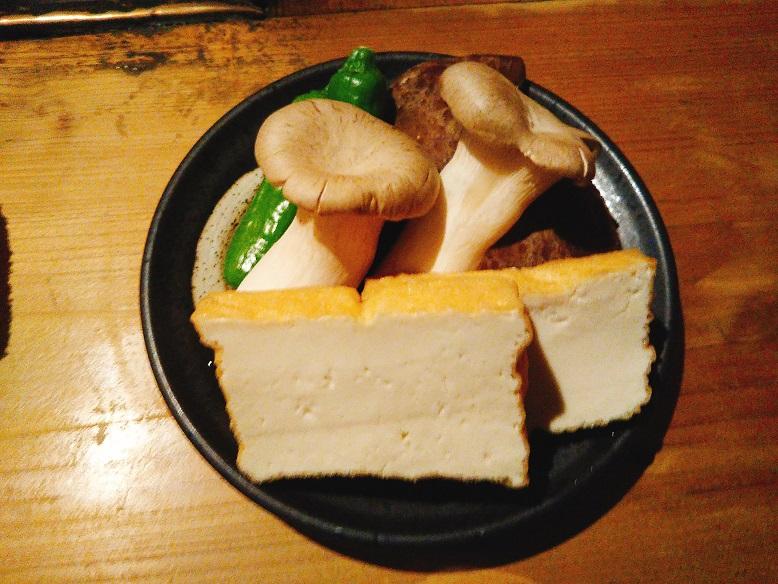 エリンギと焼き豆腐