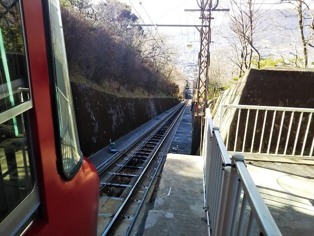 八栗寺ケーブルカー 線路