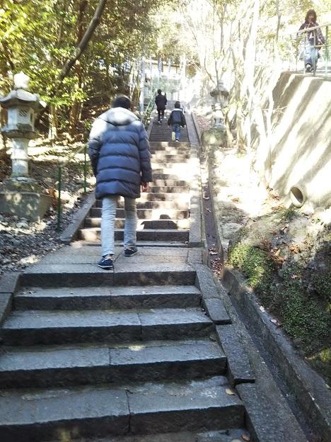 八栗寺 石段