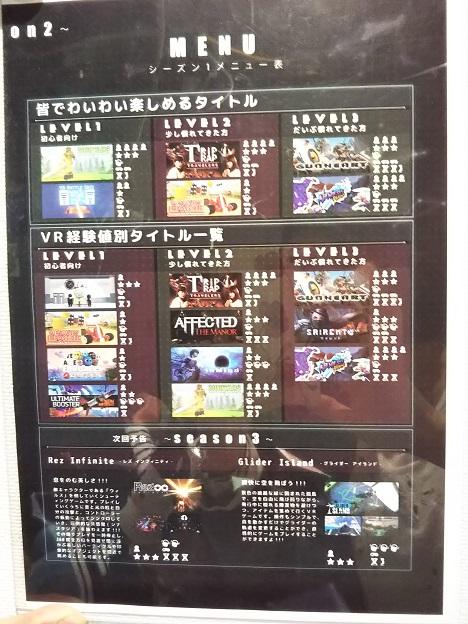 VRアボカランド高知 ゲームの種類1
