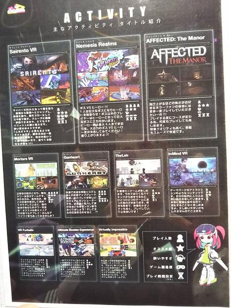 VRアボカランド高知 ゲームの種類2