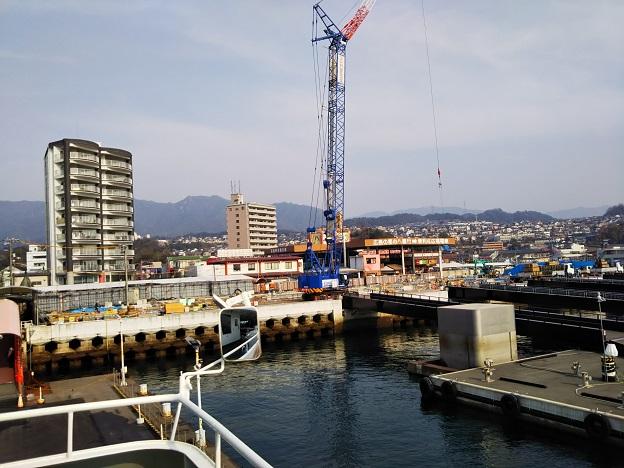 宮島口の再開発工事