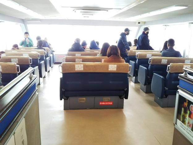 JR宮島フェリーのベンチ席