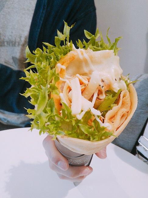 コムクレープ岡山 ベーコンチーズクーパー