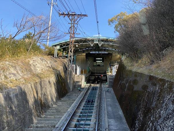 八栗山頂駅へ到着