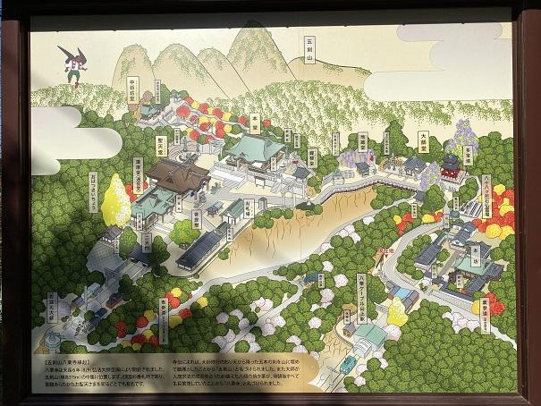 八栗寺全体の案内図