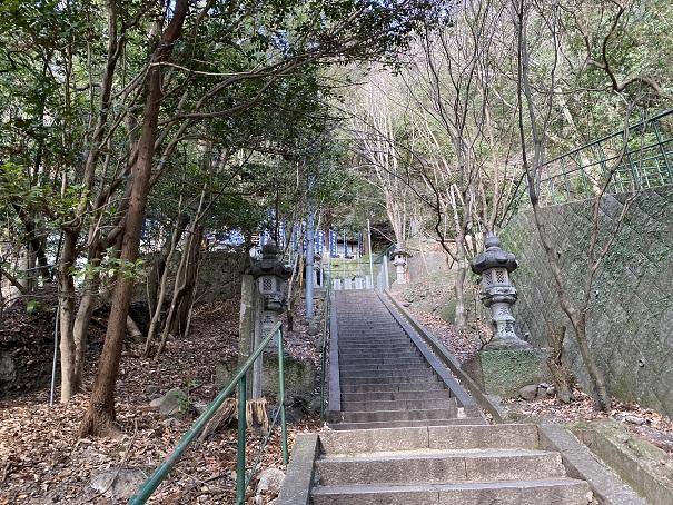 石段中将坊堂八栗寺