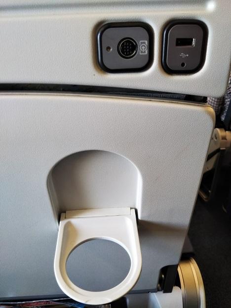 飛行機で充電できるコンセント