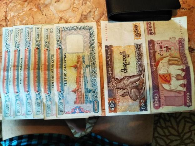 日本円をミャンマーのチャットKyatに両替