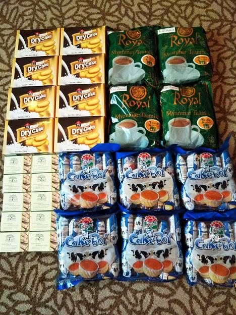 ミャンマーヤンゴンお菓子のお土産