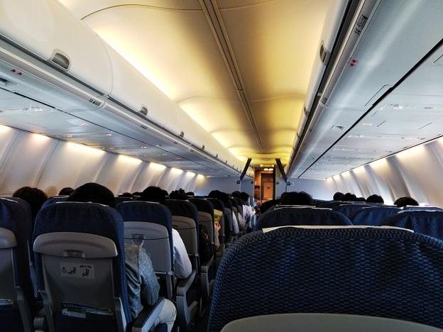 高松ANAの飛行機内