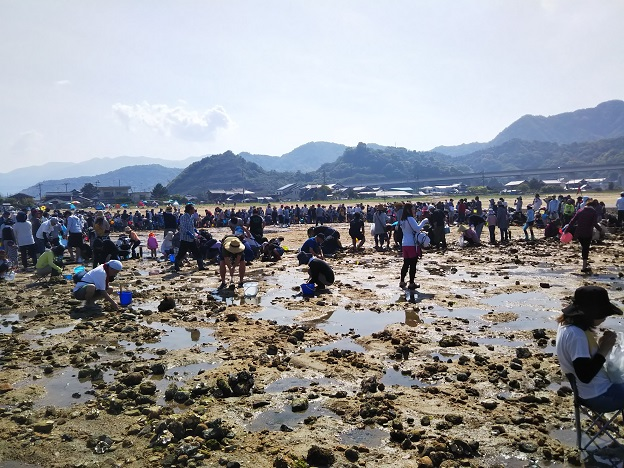 河原津海岸 潮干狩りイベント