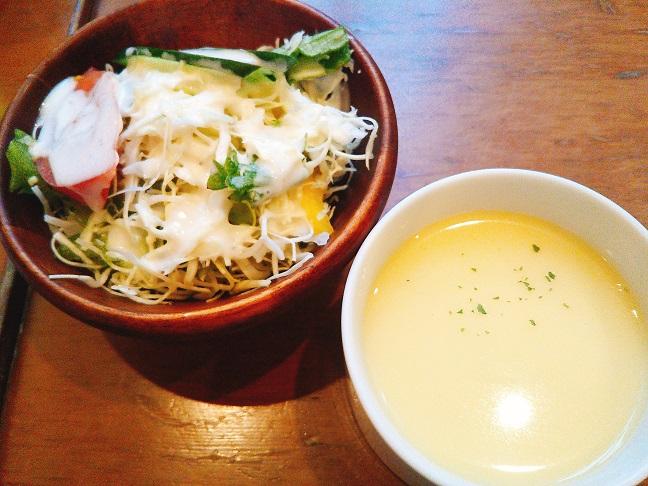 ハウステンボスとっとっと サラダ・スープ