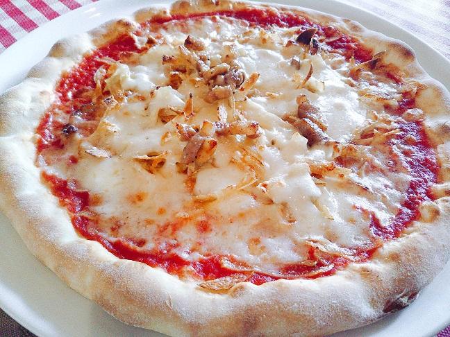 ハウステンボスピノキオ ポテトとベーコンのピザ