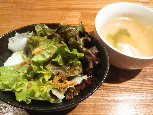 ぶつぎりたんちゃんサラダ・スープ