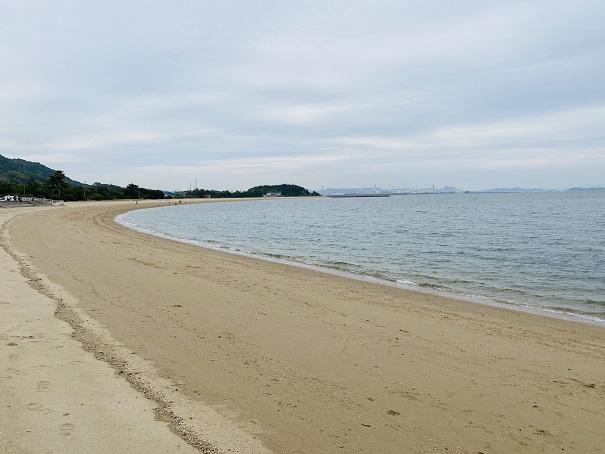 沙美海水浴場と海岸