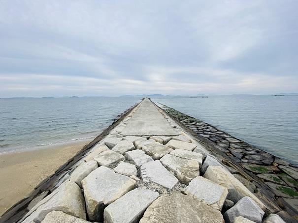 沙美海水浴場防波堤