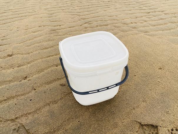 マテ貝持ち帰り用蓋付き容器