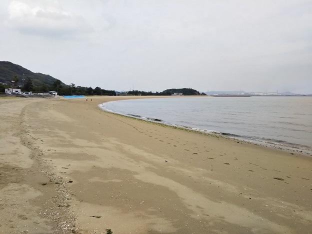 沙美海水浴場 砂浜