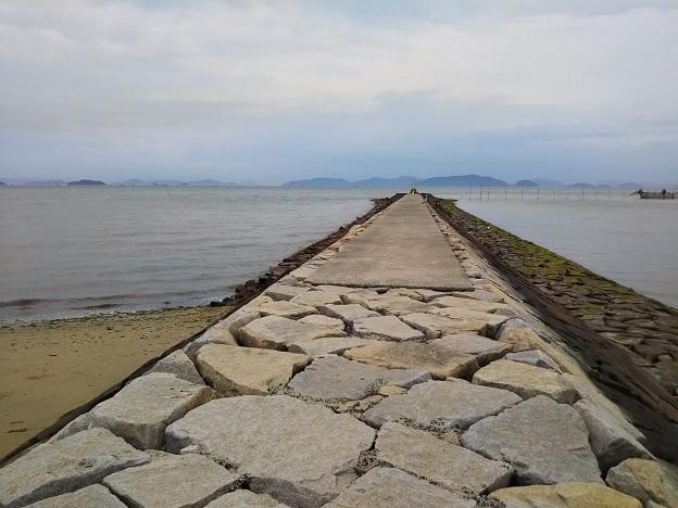 沙美海水浴場 防波堤