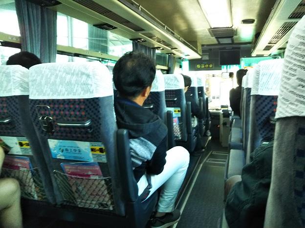 リムジンバス車内