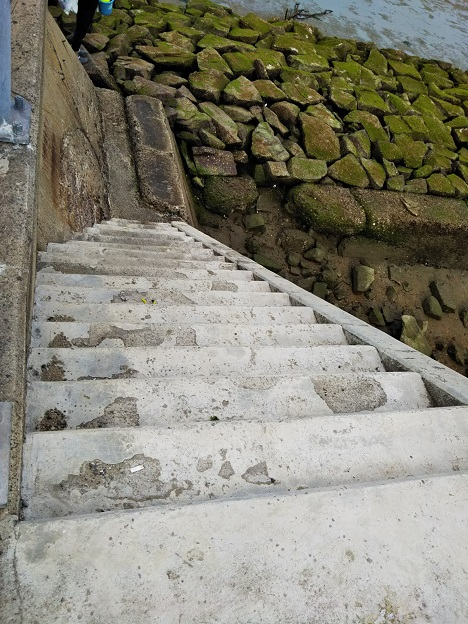 高梁川河口 階段