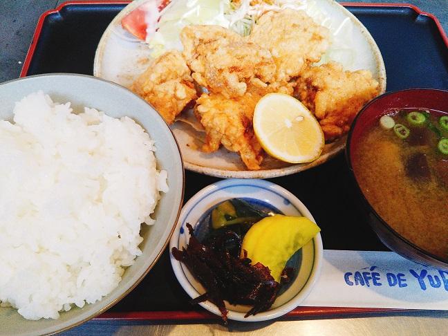 CAFE DE YURI 唐揚げ定食