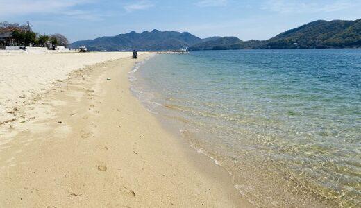 オリーブビーチ 青い海と白い砂浜 小豆島最大の海水浴場