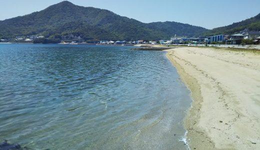 オリーブビーチ 青い海と白い砂浜小豆島最大の海水浴場