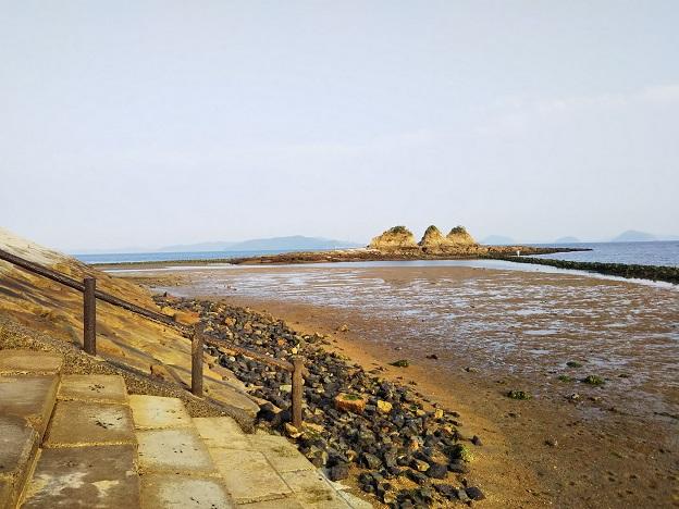 三郎島の岩場でカサゴ釣り