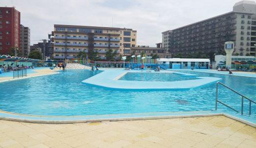 高松市立市民プール 流れるプールと幼児プール