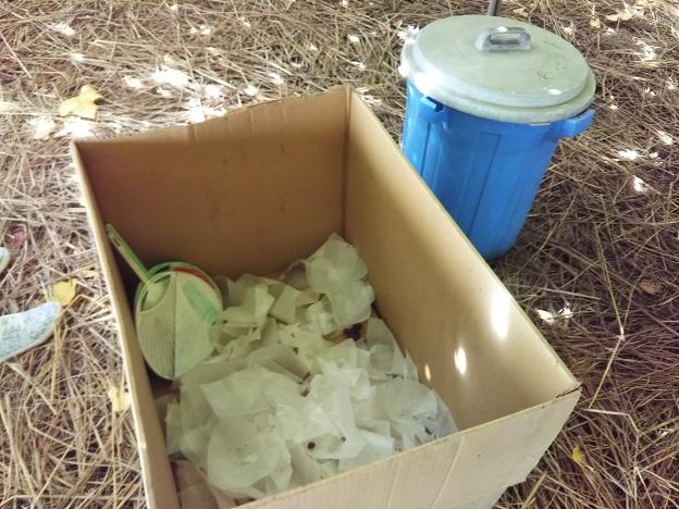 尾崎ぶどう園 ゴミ箱