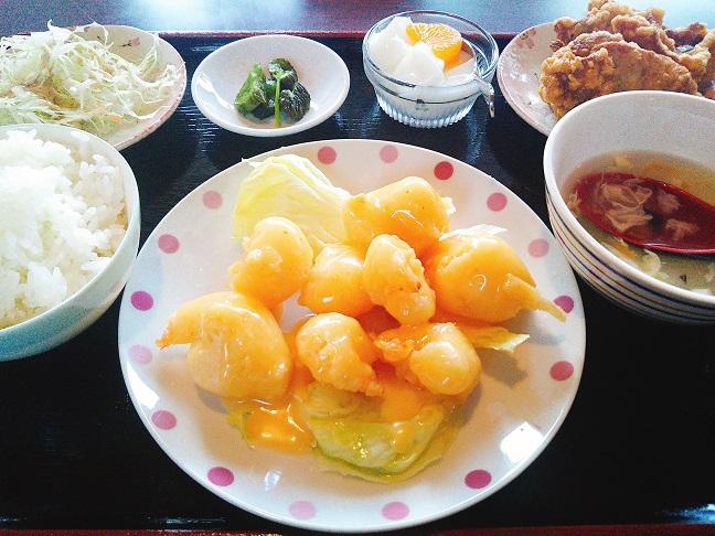 雪梅園 エビマヨ定食