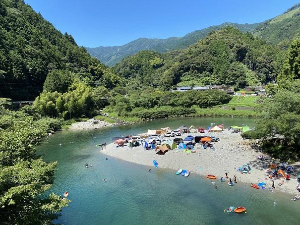 宮崎キャンプ場 土居川と小郷川