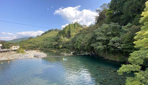 汗見川で川遊びや飛び込みターザンロープ 本山町の清流