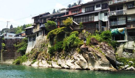 仁淀川で飛び込み川遊び 高知県宮崎キャンプ場といけがわ439交流館