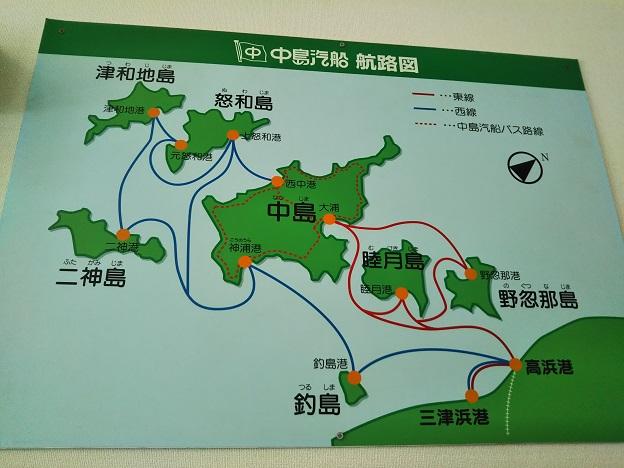 中島汽船東線西線のフェリーと高速船航路