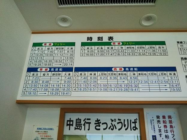 中島汽船フェリーと高速船時刻表